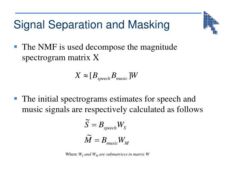 Signal Separation and Masking