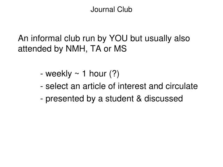 Journal Club