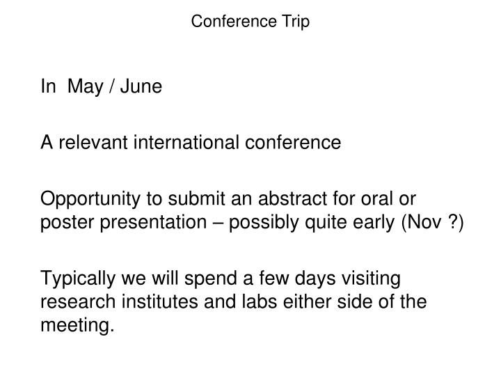 Conference Trip
