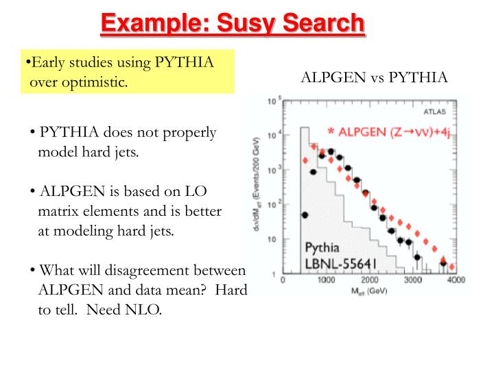 Example: Susy Search