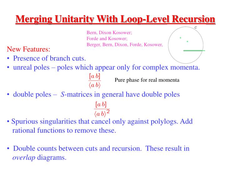Merging Unitarity With Loop-Level Recursion