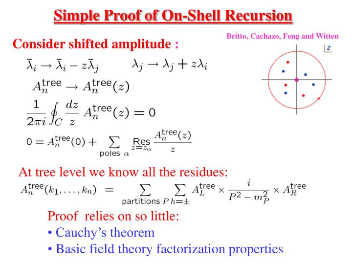 Simple Proof of On-Shell Recursion