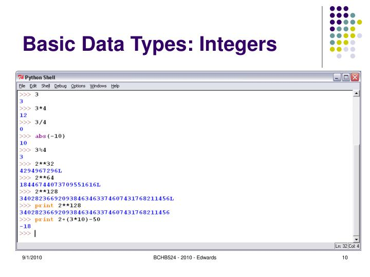 Basic Data Types: Integers