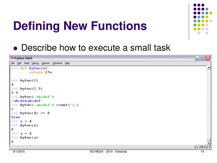 Defining New Functions