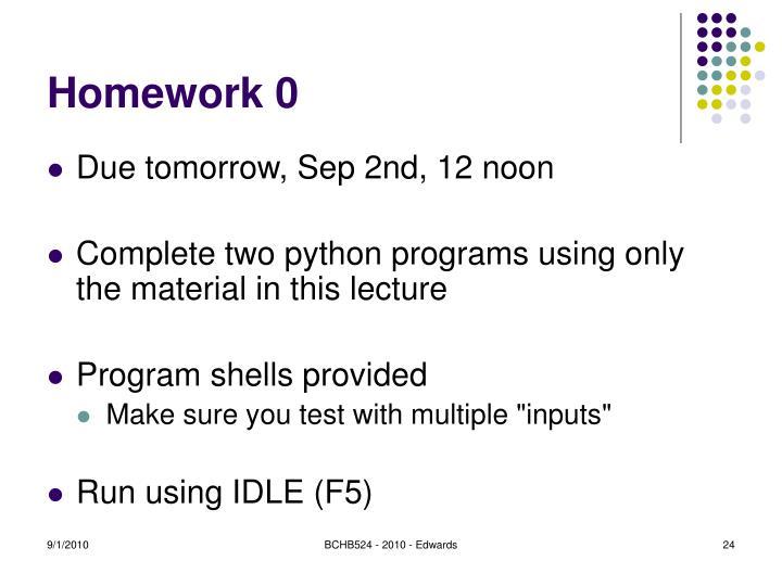 Homework 0