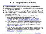 ecc proposed resolution