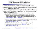 eec proposed resolution