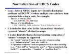normalization of edcs codes1