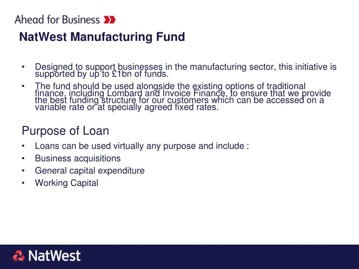 Designed to support businesses in the manufacturing sector, this initiative is supported by up to £1bn of funds.