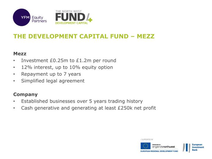 The development capital fund – MEZZ