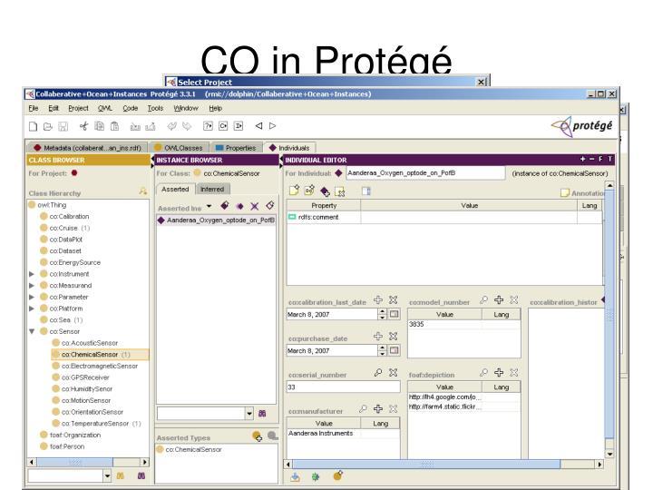 CO in Protégé