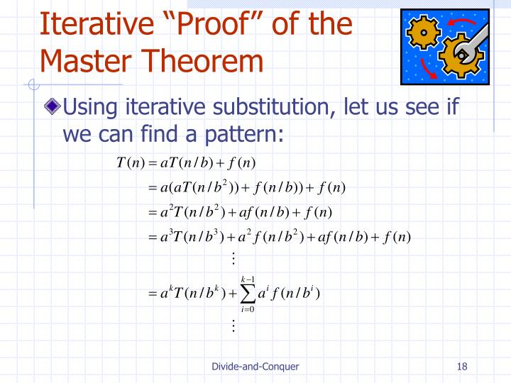 "Iterative ""Proof"" of the Master Theorem"
