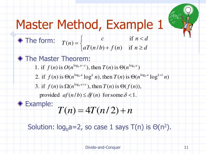 Master Method, Example 1