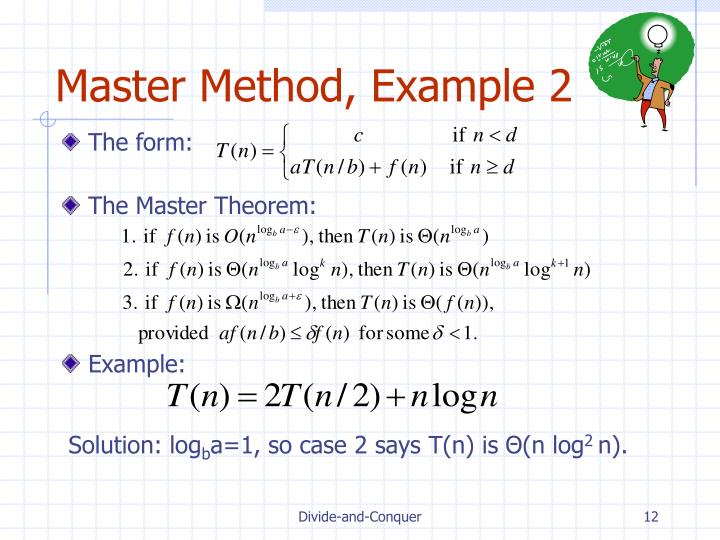 Master Method, Example 2