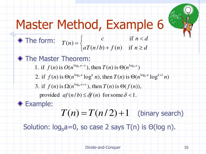 Master Method, Example 6