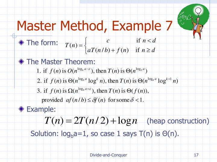 Master Method, Example 7