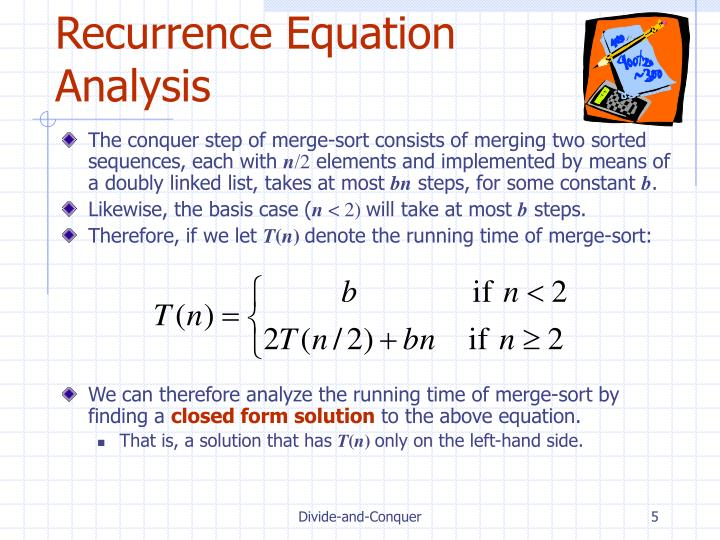 Recurrence Equation Analysis