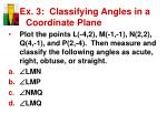 ex 3 classifying angles in a coordinate plane