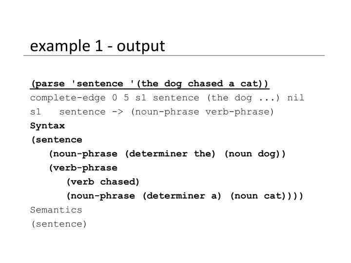 example 1 - output