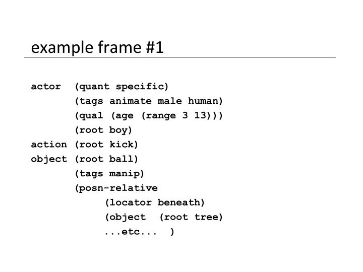 example frame #1
