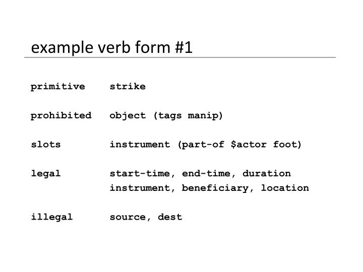 example verb form #1