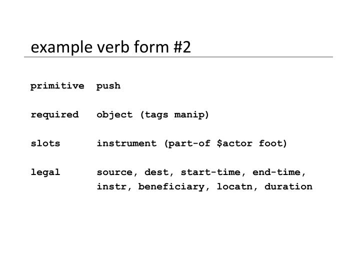 example verb form #2