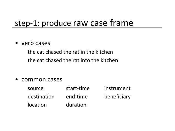 step-1: produce