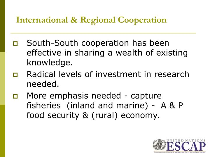 International & Regional Cooperation
