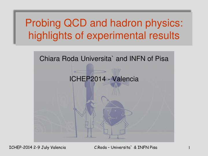 Probing qcd and hadron physics highlights of experimental results