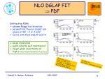 nlo dglap fit pdf