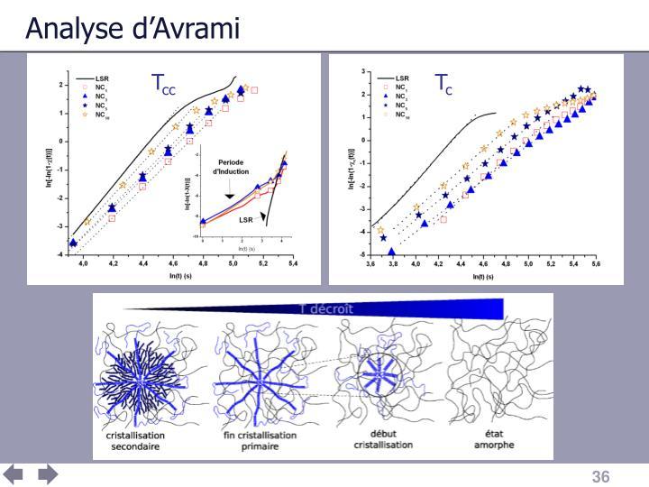 Analyse d'Avrami