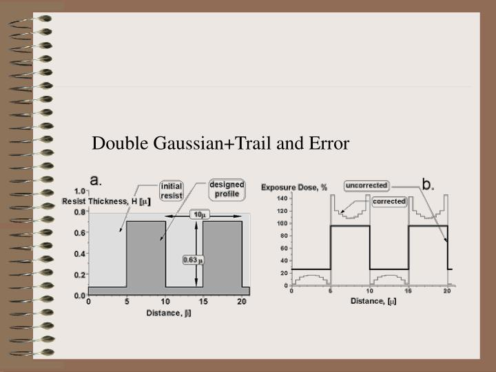 Double Gaussian+Trail and Error