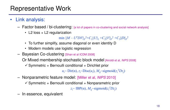Representative Work