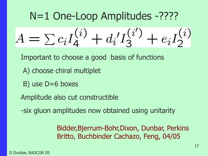 N=1 One-Loop Amplitudes -????