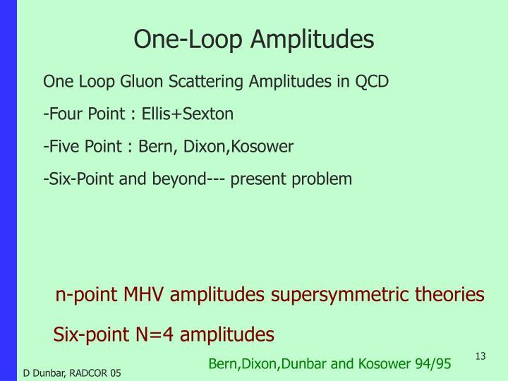 One-Loop Amplitudes