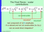 the final pieces scalar contributions