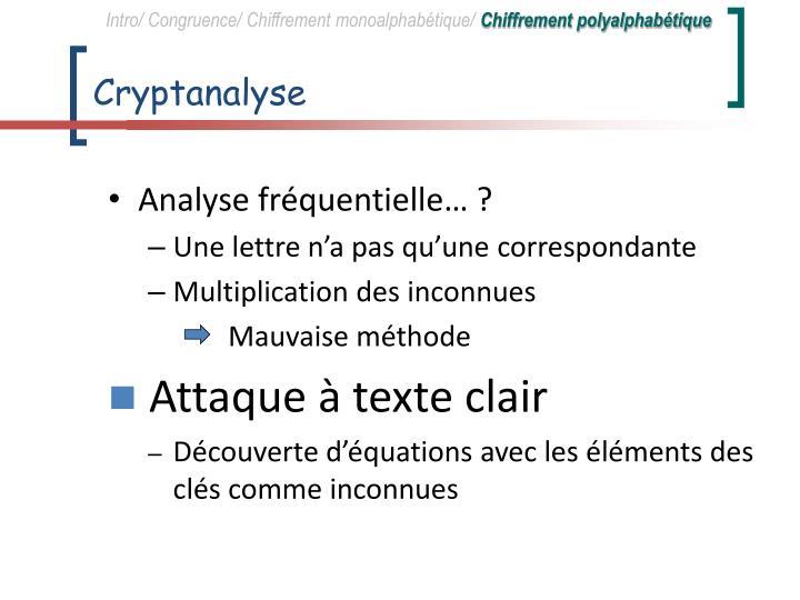 Cryptanalyse