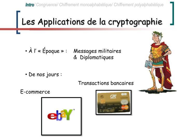 Les Applications de la cryptographie