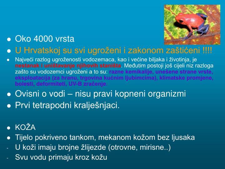 Oko 4000 vrsta