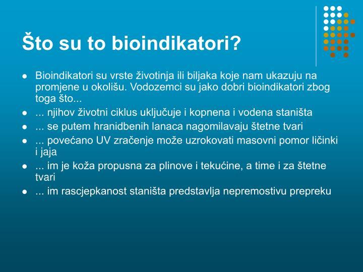 Što su to bioindikatori?