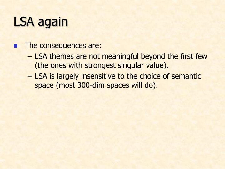 LSA again