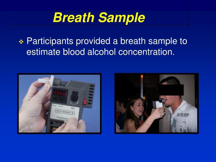 Breath Sample
