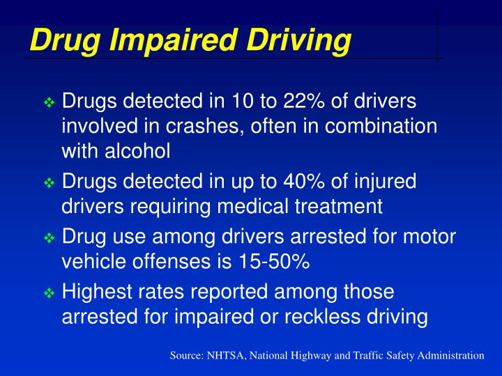 Drug Impaired Driving