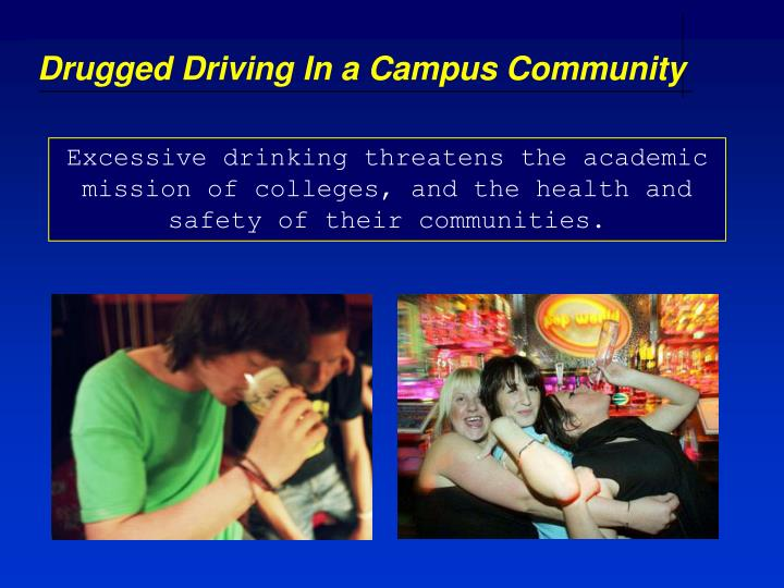 Drugged Driving In a Campus Community