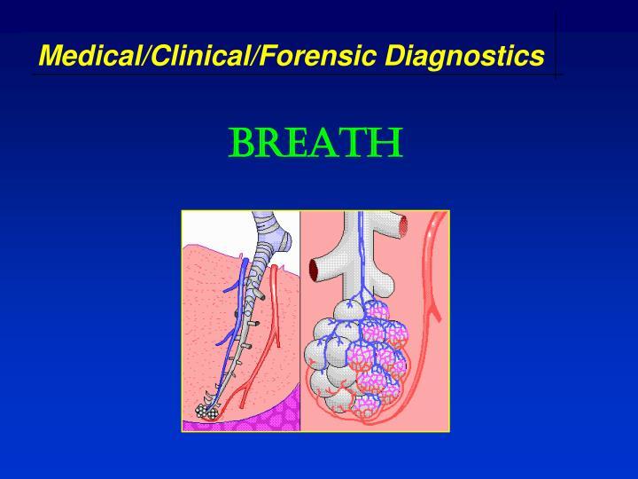 Medical/Clinical/Forensic Diagnostics