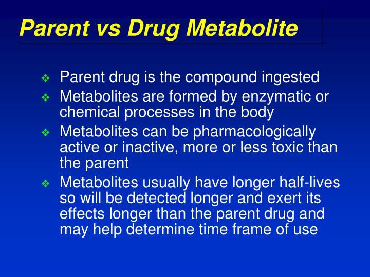 Parent vs Drug Metabolite