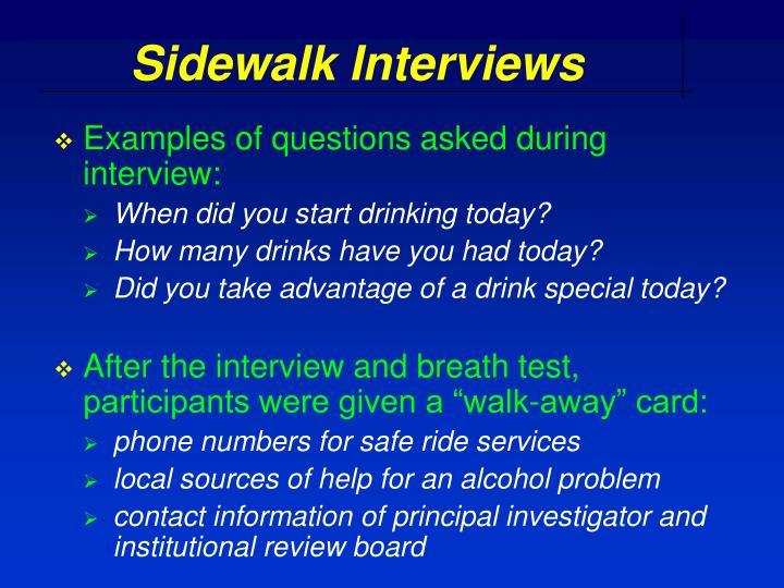 Sidewalk Interviews