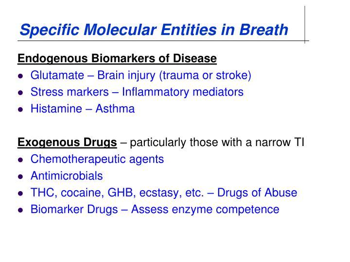 Specific Molecular Entities in Breath