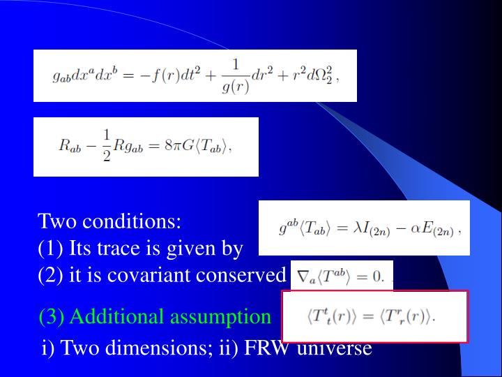 Two conditions: