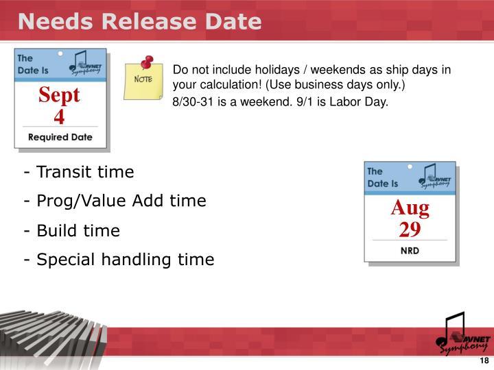 Needs Release Date